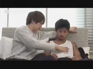 【ゲイ動画】ジャニーズ系の茶髪の男と黒髪のタトゥーを入れている男がアナルセックスで愛し合う!
