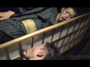 【ゲイ動画】障子越しのフェラチオ、和室でのケツマンセックス…和装でイケメン日本男児がエロい姿を魅せつける!