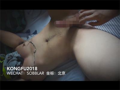 【Twitterゲイ動画】亀頭責めやカリ首集中責めからの金玉いじりでノーハンド射精する中国人のM男!