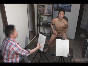 【ゲイ動画】電動エネマグラを尻穴に挿れながらヌードモデルになるアルバイト!前立腺を刺激する快感に発情しセックスにハッテンする!