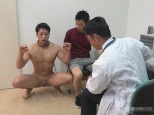 【ゲイ動画ビデオ】動物病院に首輪でつながれた動物扱いをされた男が飼い主に連れていかれて獣医にアナルセックスで犯される!