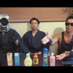 【ゲイ動画】色んなローションを紹介するために和服姿のイケメンがゴーグルマンと体にローションを塗りあいながらHに乱れることになる!