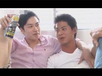 【ゲイ動画】今日の撮影は酒を入れてから!ほろ酔いになったイケメンがベッドの上で本能丸出しのドロドロBLセックス!